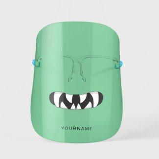 Cartoon Monster Mouth | Green Face Shield