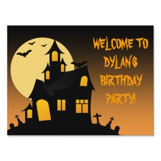 Haunted House Halloween Party Yard Sign