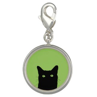 Customized Black Cat Charms