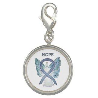 Gray Awareness Ribbon Angel Charm Bracelet