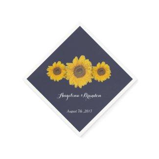 sunflower trio no2 for weddings paper napkin