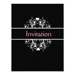 Simple Black Wedding Invitations