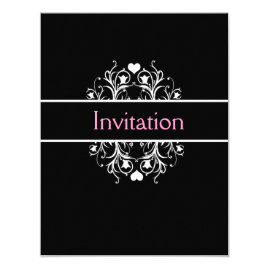 Simple Black Wedding Invitations