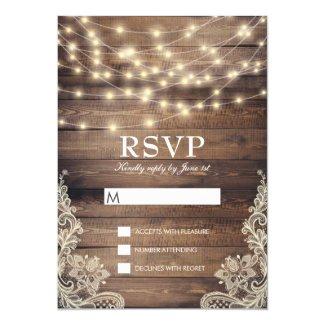 Rustic Wood RSVP Cards