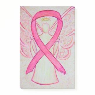 Pink Awareness Ribbon Angel Art Post It Notes