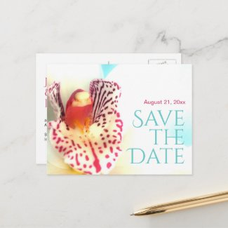 Colorful Floral Save the Date Announcement Postcard