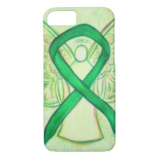 Green Awareness Ribbon Angel Custom iPhone 7 Case