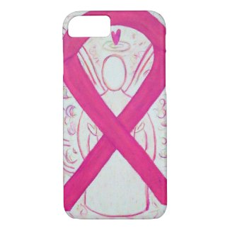 Hot Pink Awareness Ribbon Angel iPhone 7 Case