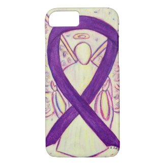 Purple Awareness Ribbon Angel Custom iPhone 7 Case