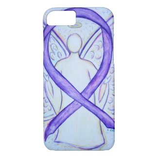 Violet Awareness Ribbon Angel Custom iPhone 7 Case