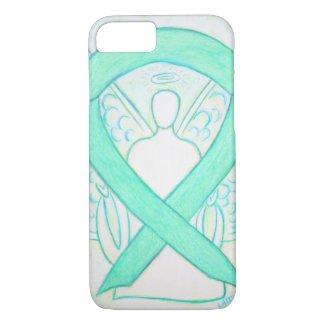 Jade Green Awareness Ribbon Angel iPhone 7 Case