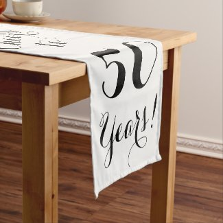 Cheers to 50 Years Table Runner