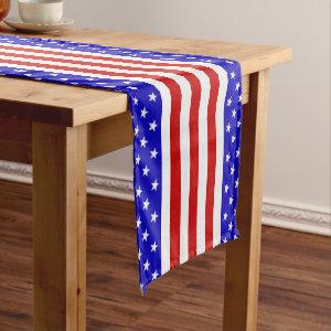Stars & Stripes Short Table Runner