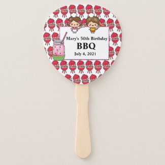 Personalized Family BBQ Hand Fan