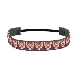 Burgundy Awareness Ribbon Angel Custom Headband