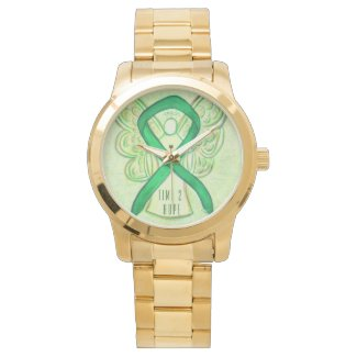 Time to Hope Green Awareness Ribbon Angel Watch