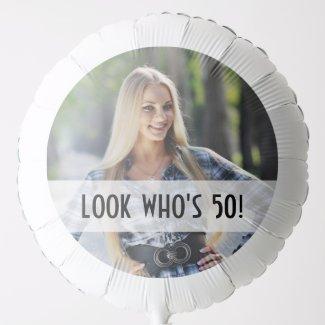 Add Your Own Custom Photo Birthday Balloon