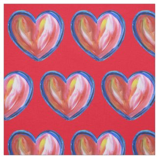 Red Heart with Hope Custom Fabric Art Material