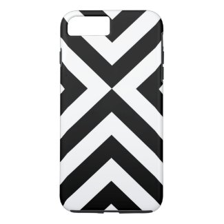 Black and White Chevrons iPhone 7 Plus Tough Case