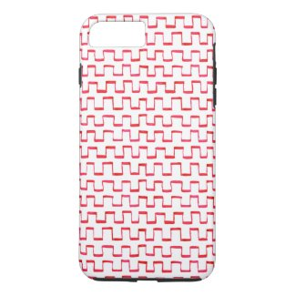 Red Gouache Crenellated Pattern iPhone 7 Plus Case