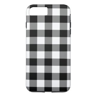 Black and White Gingham Pattern iPhone 7 Plus Case