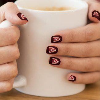 Burgundy Awareness Ribbon Custom Nail Wrap Art Minx® Nail Art