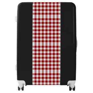 Classic Red and White Gingham Plaid Luggage