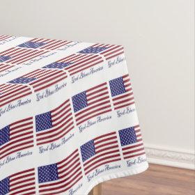 God Bless America Tablecloth
