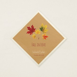 Vintage maple leaves- fall in love no2 napkin