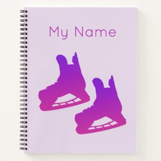 Ice hockey notebook (for girl player)
