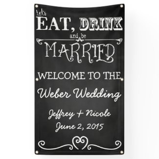 Chalkboard Personalized Custom Wedding Banner