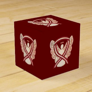 Head/Neck Cancer Awareness Ribbon Party Favor Box