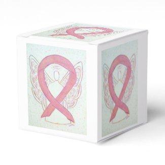 Pink Awareness Ribbon Angel Party Favor Box