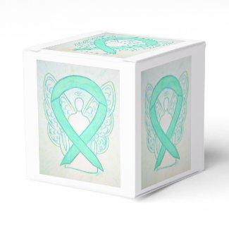 Jade Green Awareness Ribbon Angel Party Favor Box