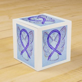 Violet Awareness Ribbon Angel Party Favor Box