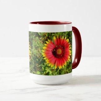 Beautiful Indian Blanket Flower Mug