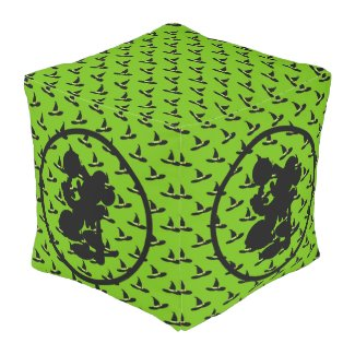 Wicked Witch of the West Oz Photo Collage Pouf