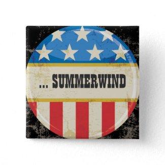 Vintage Campaign USA Flag Button