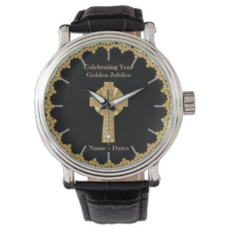 Priest Golden Jubilee Personalized Wrist Watches