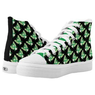 Green Awareness Ribbon Angel Custom High Tops