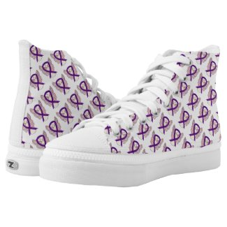 Purple Awareness Ribbon Angel Custom High Tops