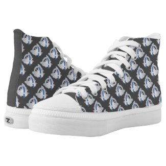 Diabetes Awareness Ribbon Angel IDDM High Tops