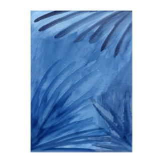 Abstract Blue Rays Painting Acrylic Print
