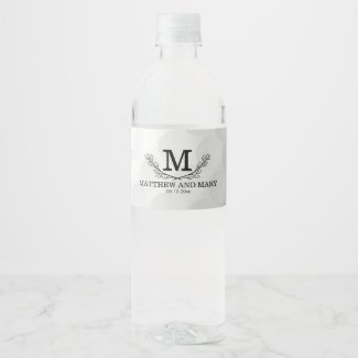 Personalized Golf Ball Pattern Name Monogram Age Water Bottle Label