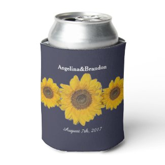 sunflower trio for weddings no2 can cooler