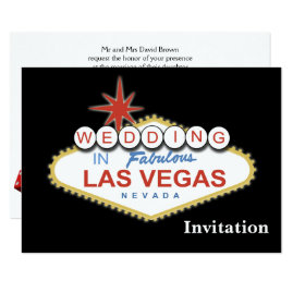 Las Vegas Welcome Sign Wedding Invitations