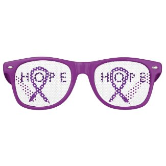 Purple Awareness Ribbon Hope Cause Sunglasses