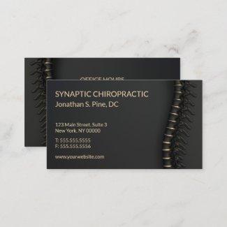 Elegant Black and Gold Spine Business Cards
