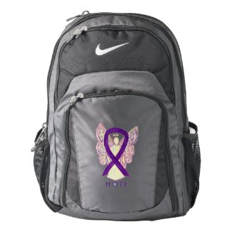 Purple Awareness Ribbon Angel Customized Backpack