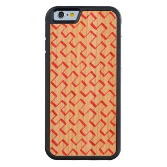 Red Gouache Diagonal Geometric Pattern Carved® Cherry iPhone 6 Bumper
